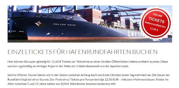 Tickets Hafenrundfahrten - Infos und buchen