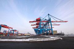 Das Containerterminal Altenwerder werden wir bei unserer Harburger Radtour erreichen