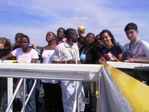 Jugendgruppe während der Deutsch-Olympiade des Goethe-Instituts