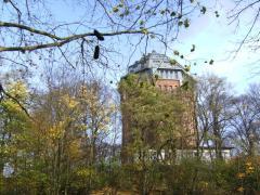 Der alte Wasserturm im Schanzenviertel - inzwischen ein Hotel