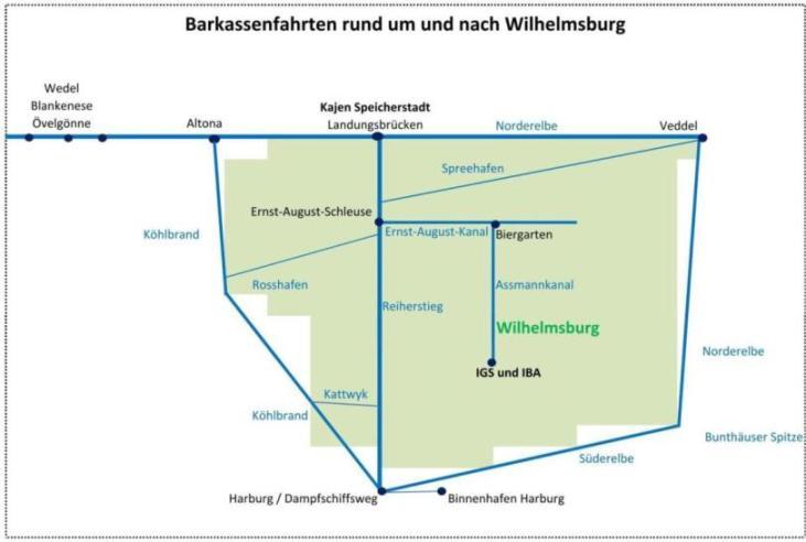 Barkassenfahrten rund um und nach Wilhelmsburg