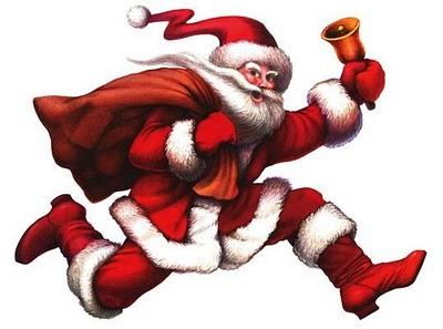 Zu Weihnachten geht auch der Weihnachtsmann gern spazieren